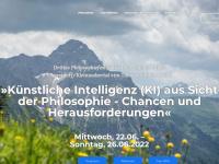philosophieallgaeueralpen.com Webseite Vorschau