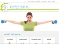 physiotherapie-meier.de Webseite Vorschau