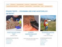 mama-testet.com Webseite Vorschau