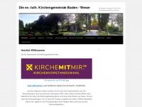 kirchengemeindebaden.wordpress.com Webseite Vorschau