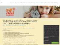 kinderurlaub-bauernhof.de Webseite Vorschau