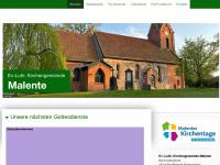 kirchengemeindemalente.de Webseite Vorschau