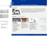 uni-freiburg.de Webseite Vorschau