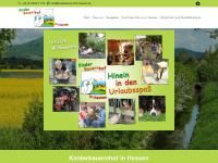 kinderbauernhof-hessen.de Webseite Vorschau