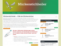 mueckenstichheiler.de Webseite Vorschau
