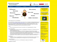kinderbetreuung-glueckskaefer.de Webseite Vorschau
