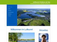 krakower-seenland-tourismus.de Webseite Vorschau