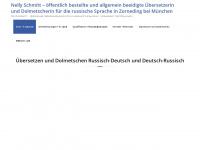 übersetzerrussisch.de Webseite Vorschau