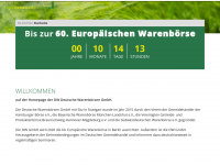 deutsche-warenboersen.de Webseite Vorschau