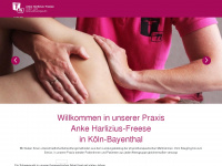 physiotherapie-koeln-sued.de Webseite Vorschau