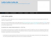 lotto-lotto-lotto.de Webseite Vorschau